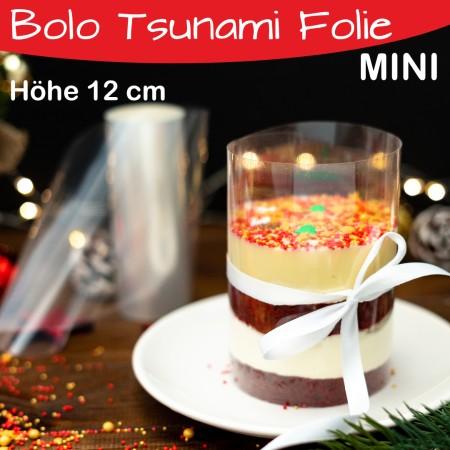 Tortenrandfolie  Höhe 12 cm - MINI Bolo Tsunami Cake Folie - Acetat Rolle - 20m