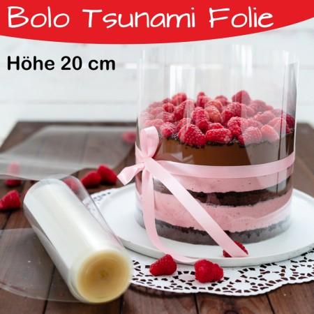 Tortenrandfolie  Höhe 20 cm - Bolo Tsunami Cake Folie - Acetat Rolle - 20m