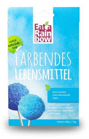Lebensmittelfarbe - Eat a Rainbow - Farbpulver - Blau