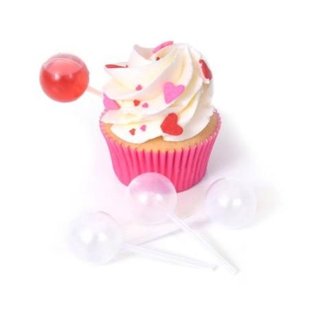 10 Cupcake Pipetten - Cupcake Topper - rund - 6 ml