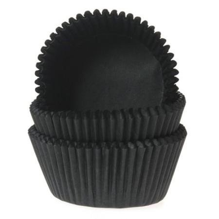 Muffinförmchen - Schwarz - 50 Stück