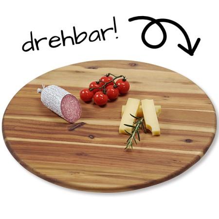 Dreh- & Servierplatte - Kuchenplatte aus Akazienholz - ∅40 cm
