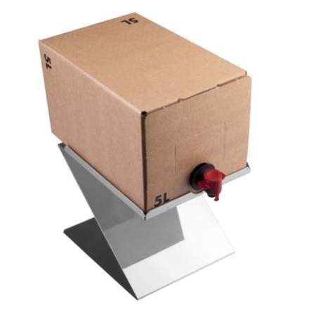 Halter für Getränkeboxen aus Edelstahl - Bag in the Box