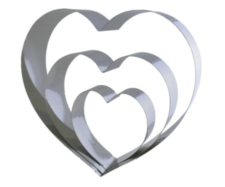Herzbackform Set - 3-teilig