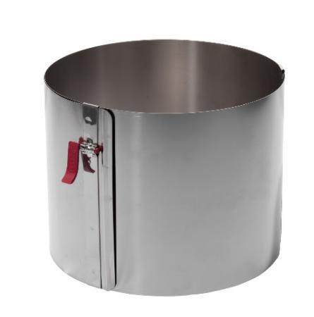 Tortenring mit Klemmhebel verstellbar - Ø17-30 cm - Höhe 15
