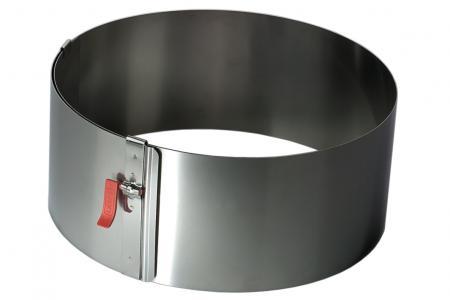ABVERKAUF Tortenring mit Klemmhebel verstellbar - Ø17-30 cm - Höhe 7 cm