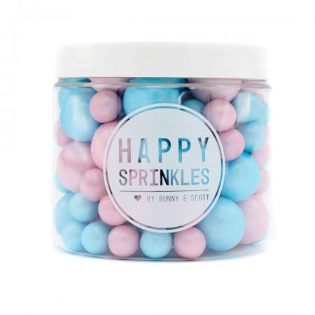 Happy Sprinkles Girl or Boy Schokokugeln für Shower Party Cake Dose